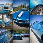 Blue Pontiac Trans Am